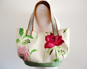 French linen floral Bag Purse