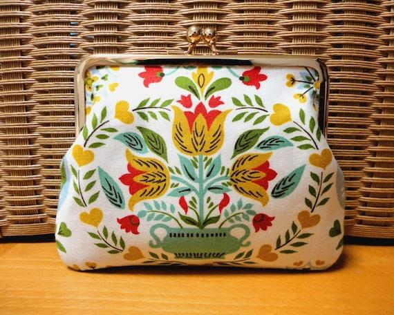 Vintage Dutch Folk floral Clutch wallet
