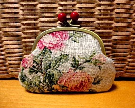 Shabby chic floral Candy Clutch wallet