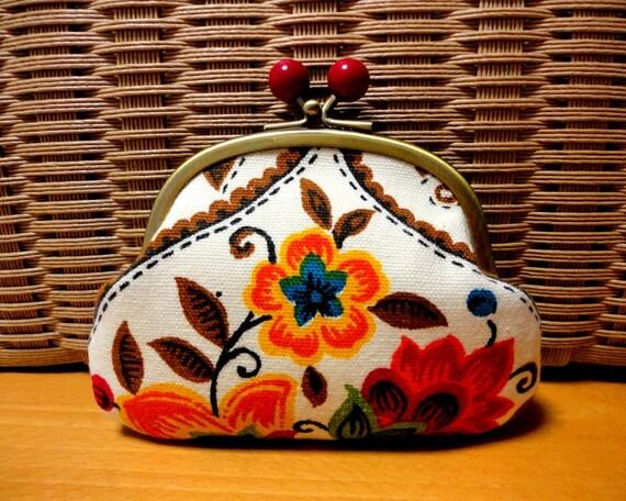 Retro Folk floral Candy Clutch wallet