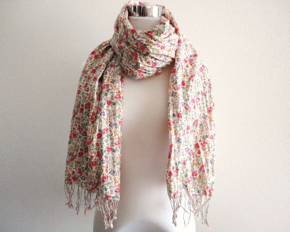 Sweet Floral cotton scarf