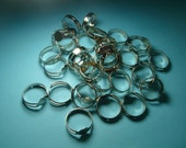20 pc silver ring base 8mm pad
