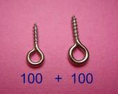 200 pc Screw Eye Pins (long size)