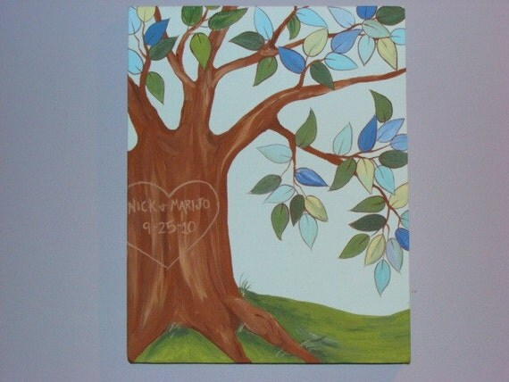 Sweetheart Tree - Wedding Gift, Anniversary Gift, Wedding Guest Book Alternative