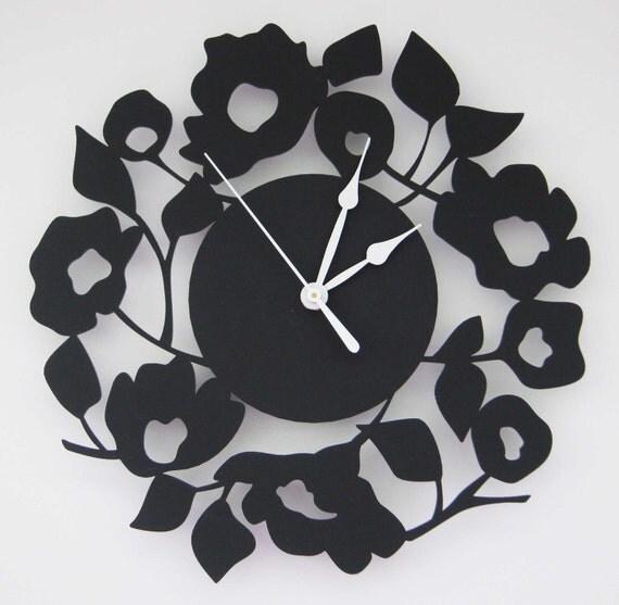 Blooming Clock in black