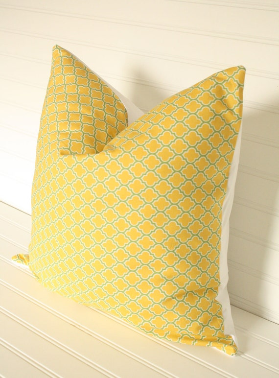 Yellow Lattice Pillow Cover 18x18 LIMITED EDITION