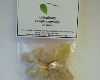 Colophony Resin - For Aromatherapy, Incense, Magick, Spells, shamanism, Sun rituals,  and solar energy