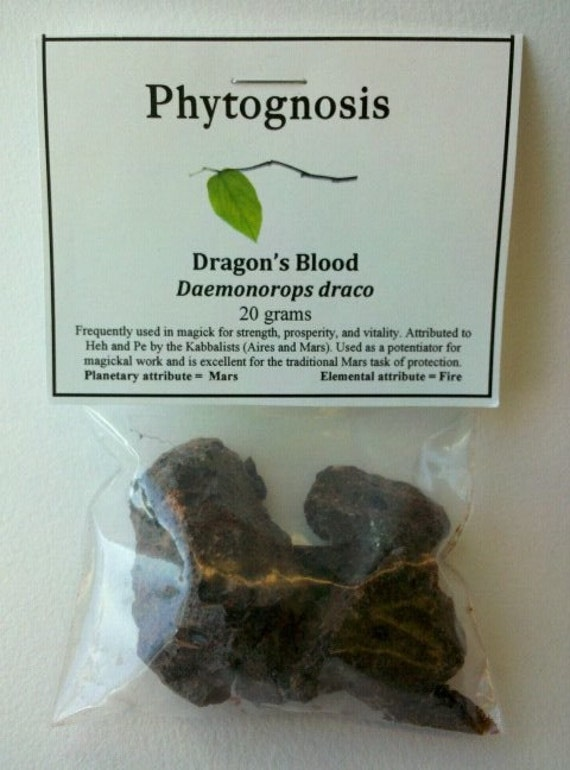 Dragons Blood Resin (gold seal) - For incense, Spells, Magick, and other workings