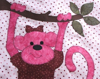 PATTERN - PDF - Monkeys Are People Too - Quilt - Baby Quilt - Wall Art - Boy - Girl