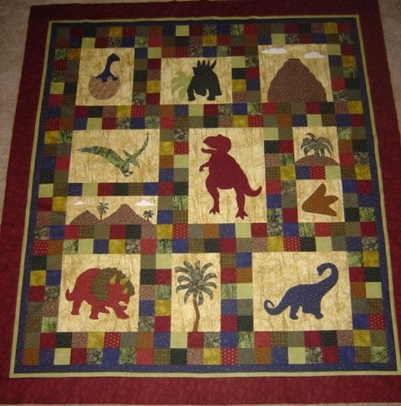Dinosaur Quilt Pattern Dinosaurs On Chloe Lane Baby