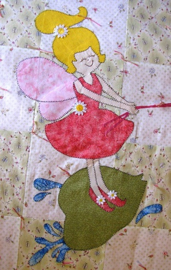 Items similar to Quilt PATTERN Twin - PDF - Twin size bed quilt - Child - Girl - Fairy ...