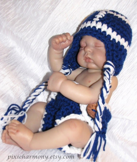 Baby FOOTBALL TEAM Hat and Diaper Cover Set - Photo Prop - You choose team letter logo and colors - Made to ORDER