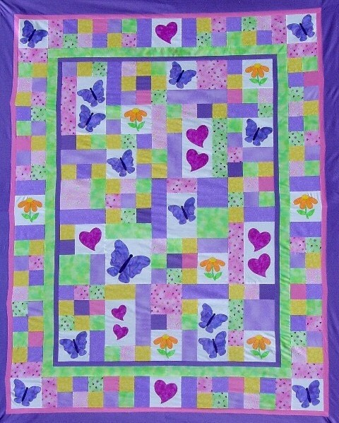 Twin Quilt Pattern Pdf Twin Size Bed Quilt Child Girl