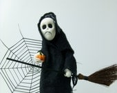 Halloween Decoration - Ghost - Needle Felted Miniature