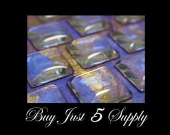 Glass Cabochons - 50 Crystal Clear 1 Inch SQUARE DOME... Waiting For Your Creativity...Great for Pendants, Refrigerator Magnets, more