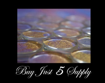 10 SMOOTH Crystal Clear GLASS TILES.....1 Inch Circle... Great for Pendants, Magnets, Jewelry, Digital Art, more