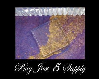 GLASS TILES. - 50 SMOOTH Crystal Clear...1 Inch Square...Great for Pendants, Magnets, Jewelry, Digital Art, more