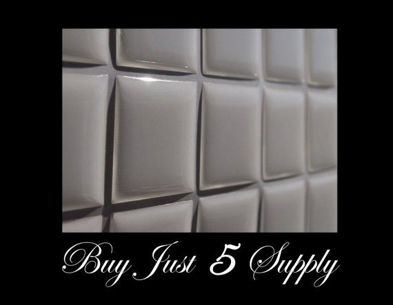 100 Epoxy Resin Stickers-Domes-Dots-Drops..1 Inch Squares...Fast and Easy..Peel and Stick..No Mess Pendants and Magnets