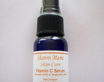 20% Vitamin C Serum with Hyaluronic acid - 1oz. made fresh per sale. Vitamin C in Serum lasts for only 2 months.