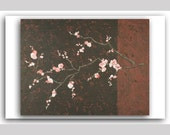 4x6 Postcard (Title - Plum Blossoms, Red) From the Nature Collection