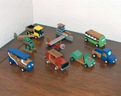 Wooden hand painted and stained toys (Set of 9)