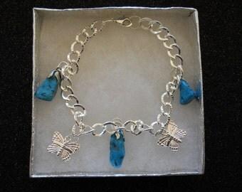 Turquoise Butterflies Bracelet