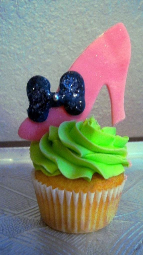 items similar to high heel cupcake toppers on etsy
