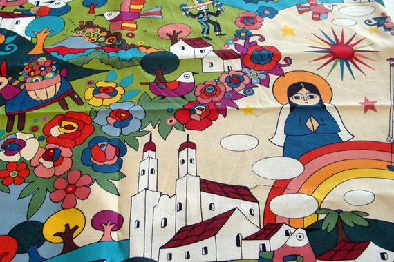 Zocalo - Mexican Folklore fabric by Alexander Henry - 1/2 yard