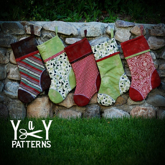 PDF Sewing Pattern, The Heirloom Stocking Pattern, Holiday Sewing