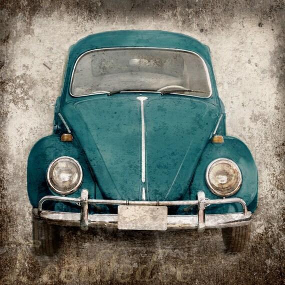 Deep Teal Bug (or ANY COLOR) - Vintage Style Original Photograph Print