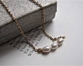 SALE Freshwater Pearl Trio Necklace
