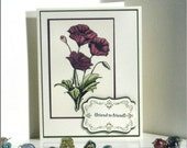 Friend to Friend Red Poppies - Poppies Red Friendship Thinking of You Handmade card