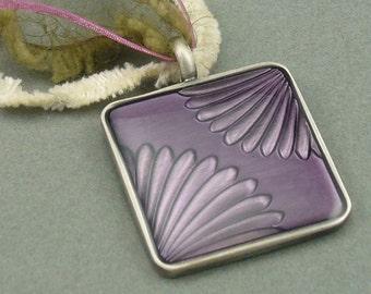 Autumn Romance fiber necklace
