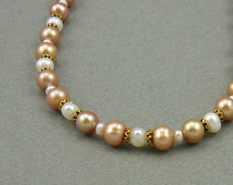 Peaches For Me pearl necklace