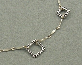 Diamond Link silver necklace