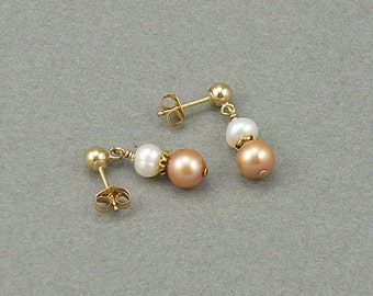 Peaches For Me pearl earrings