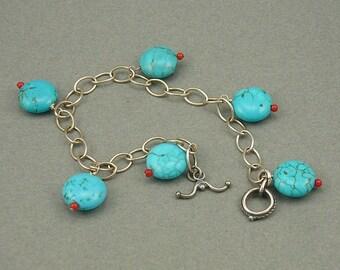 Southwest Swing turquoise bracelet