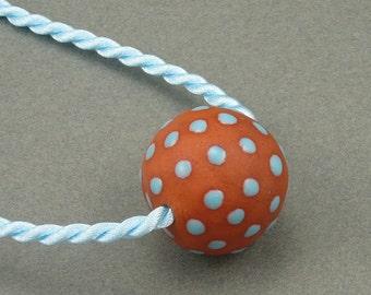 Big Blue terracotta aromatherapy necklace