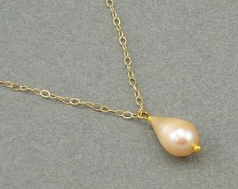 Dragon Tear pearl drop necklace