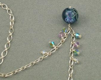 Falling Petals silver necklace