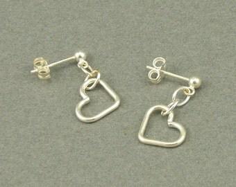 Leave Me Hanging silver earrings