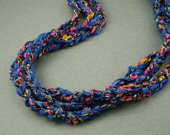 Confetti Crochet Ribbon Necklace