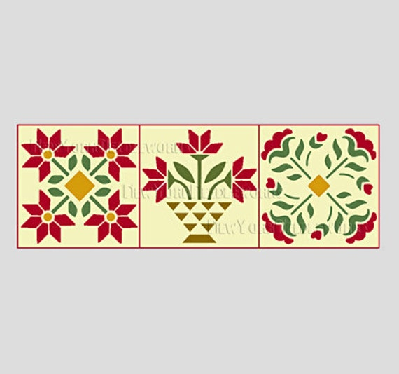 Quilt Cross Stitch, Quilt Pattern, Quilt Design, Flower Cross Stitch, Quilt Designs, Counted Cross Stitch by NewYorkNeedleworks on Etsy