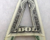 Dollar Bill Origami Letters and Numbers