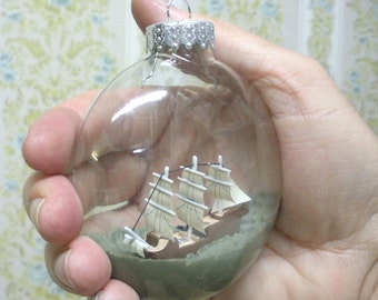 Ship In A Bottle Christmas Ornament