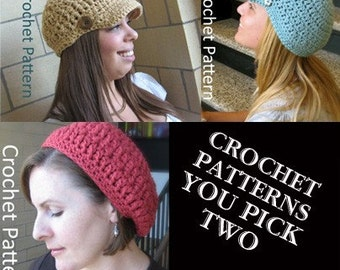 You Pick Two and Save 1.00 off each pattern