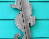 Seahorse made of recycled fence wood