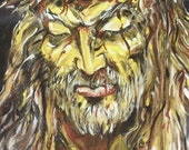 Jesus Spiritual God Higher Power Love 11x14 Painting Reproduction FRAMED Ready to Hang