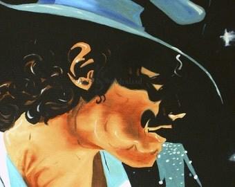 Michael Jackson Original Painting Poster Print This is IT POP Art Portrait