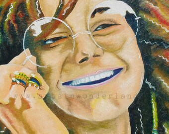 Janis Joplin from Original Painting Reproduction Poster 11x14 Print By Joe Palotas